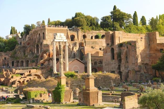 Ruiny forum romanum, rzym, włochy