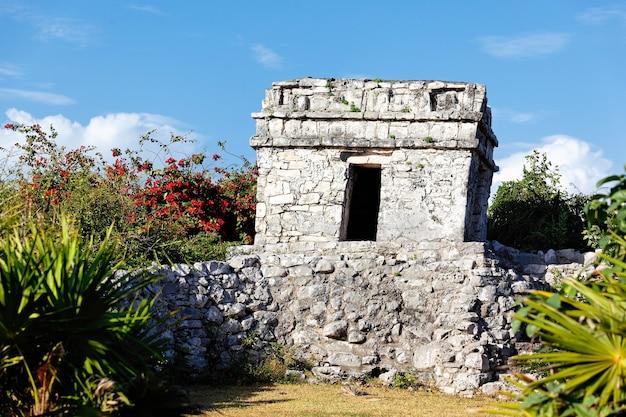 Ruiny fresków w grudniu, tulum, meksyk