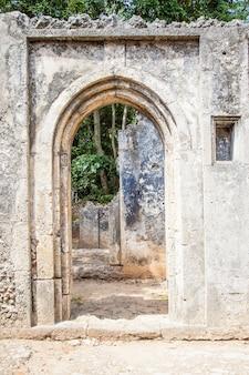 Ruiny Gede W Kenii To Pozostałości Po Mieście Suahili, Typowym Dla Większości Miast Na Wschodnioafrykańskim Wybrzeżu Premium Zdjęcia