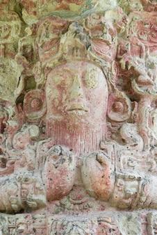 Ruiny majów w archeologicznym miejscu, copan, copan ruinas, honduras