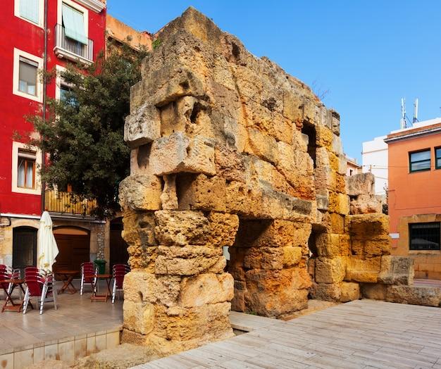 Ruiny murów rzymskich. tarragona