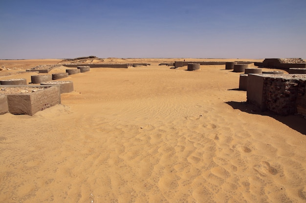 Ruiny na saharze, afryka