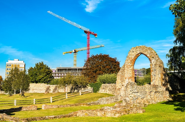 Ruiny opactwa św augustyna w canterbury. światowe dziedzictwo w anglii