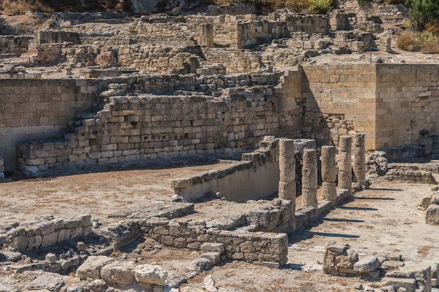 Ruiny starożytnego kamiros na wyspie rodos