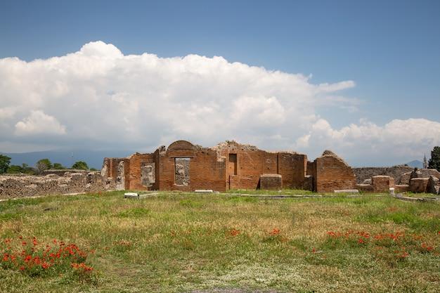 Ruiny starożytnego rzymskiego miasta pompeje, prowincja neapol, campania, włochy.