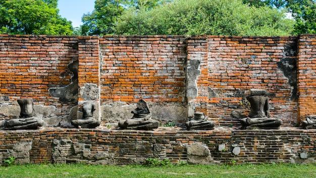 Ruiny świątyni ayutthaya, wat maha that