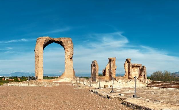 Ruiny villa dei quintili na appia way niedaleko rzymu