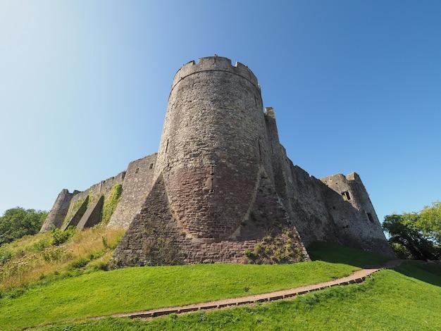Ruiny zamku chepstow w chepstow