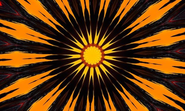Rumianek wzór, serce z kwiatami na tle kwiatów. bezszwowy wzór kalejdoskopowy