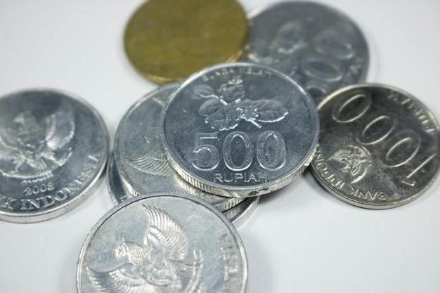 Rupia monety stos makro bliska płatniczej pieniądze