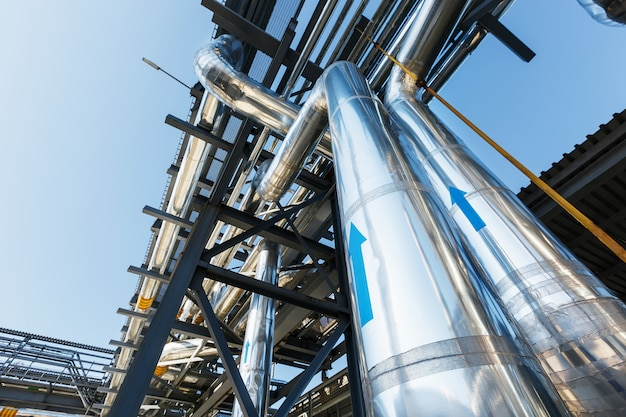 Rurociąg wysokiego ciśnienia do transportu gazu przez stal nierdzewną