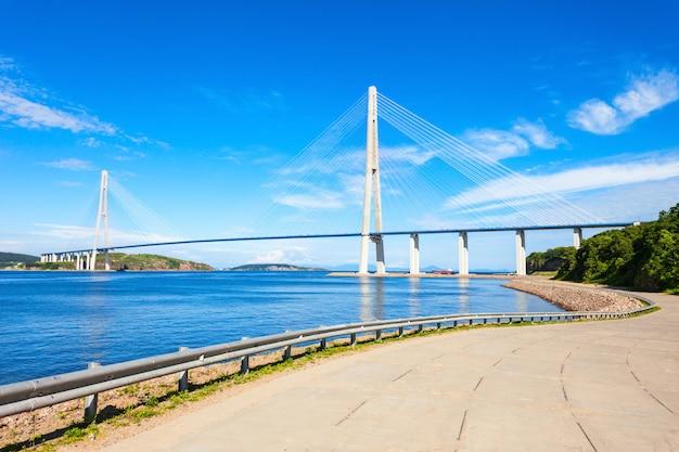 Russky russian bridge, władywostok
