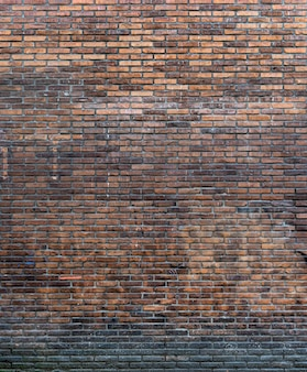 Rustykalne miejsce na kopię ceglanego muru w tle
