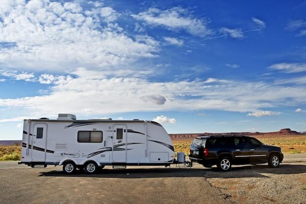 Rv trailer podróż