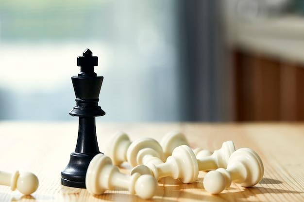 Rycerz szachów wygrywa zbliżenie