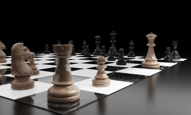 Rycerz szachy renderowania 3d