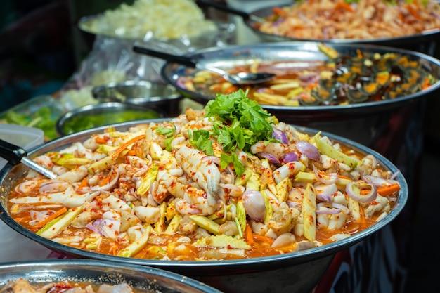 Rynek żywności ulicznej w azji liczniki żywności