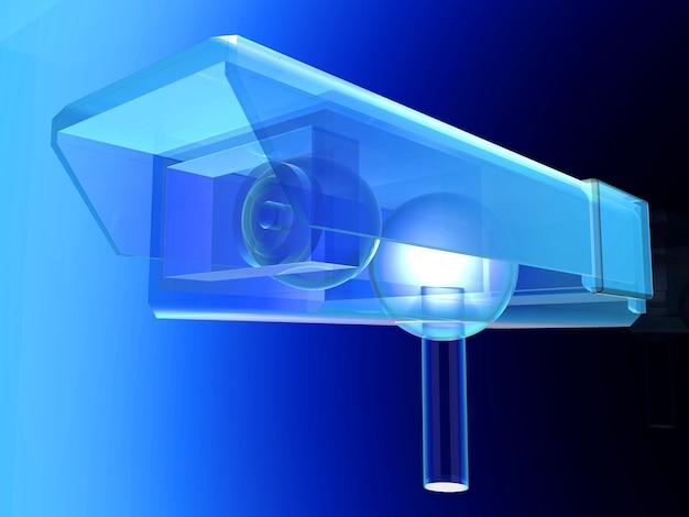 Rysunek techniczny kamery monitoringu cctv.