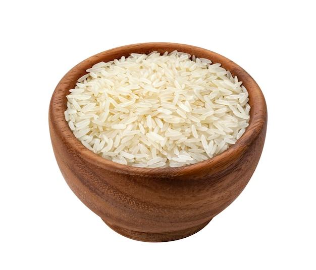 Ryż basmati na białym tle