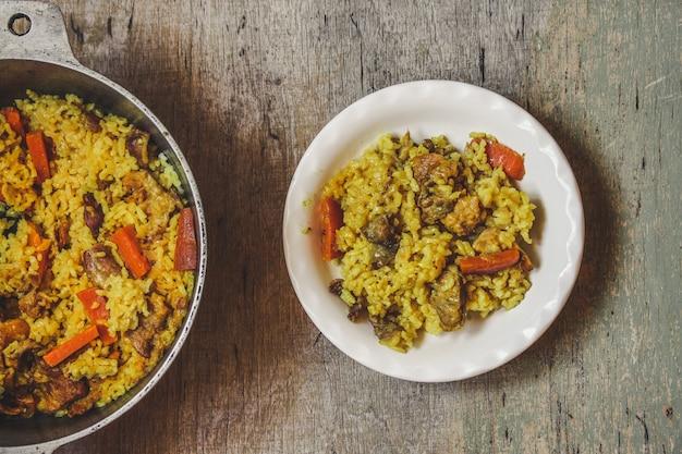 Ryż pilaw z mięsem i przyprawami