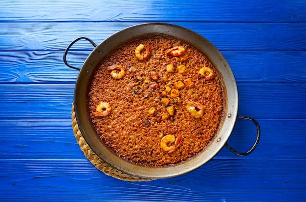 Ryż selleoret z owoców morza paella z hiszpanii