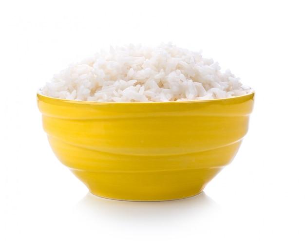 Ryż w żółtej misce