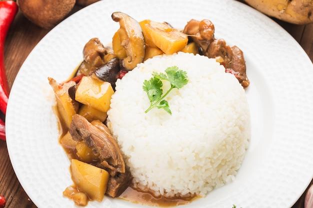 Ryż z grzybami i ziemniakami