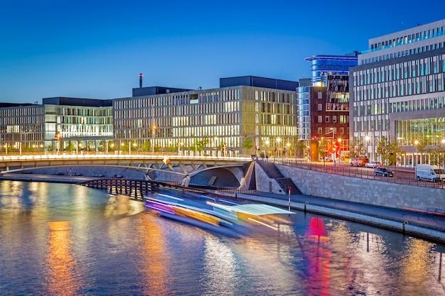 Rządowa dzielnica berlina nocą
