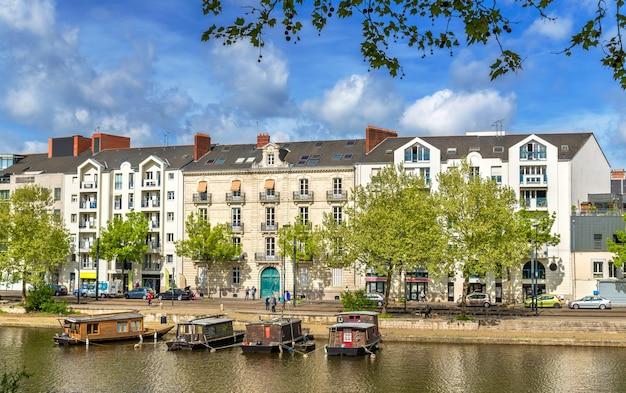 Rzeka erdre w nantes france loireatlantique