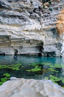 Rzeka pratinha chapada diamantina park narodowy iraquara bahia brazylia