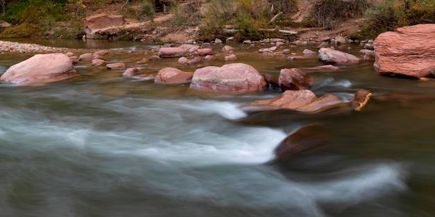 Rzeka, zion park narodowy, utah, usa