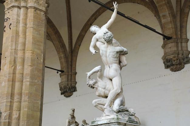 Rzeźba we florencji we włoszech