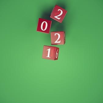 Rzut kostką ukazuje rok 2021
