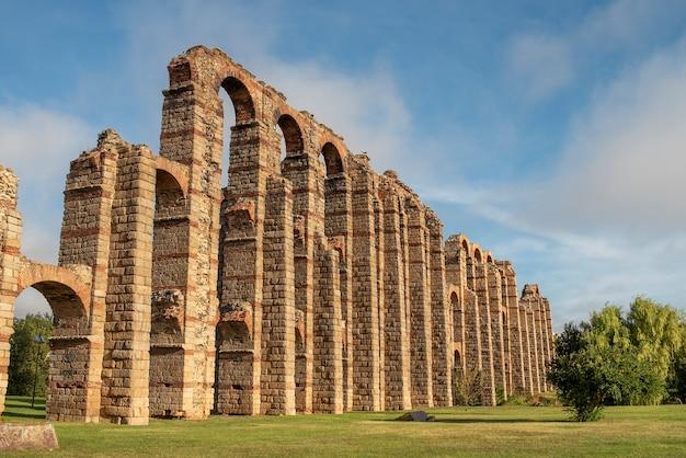 Rzymski kamień akweduktu merida hiszpania