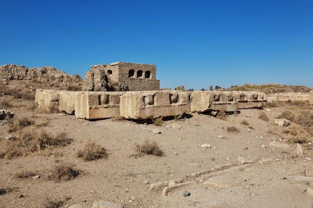 Rzymskie ruiny w el minya, egipt