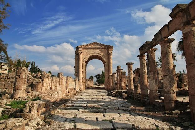 Rzymskie ruiny w tyrze (kwaśny), liban