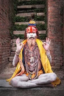Sadhu w świątyni pashupatinath