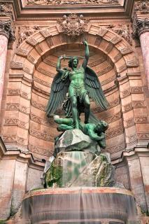 Saint michel fontanna kwartał