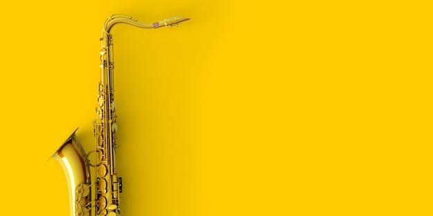 Saksofon z żółtego złota