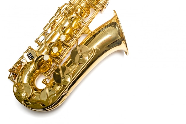 Saksofonowy jazzowy instrument odizolowywający