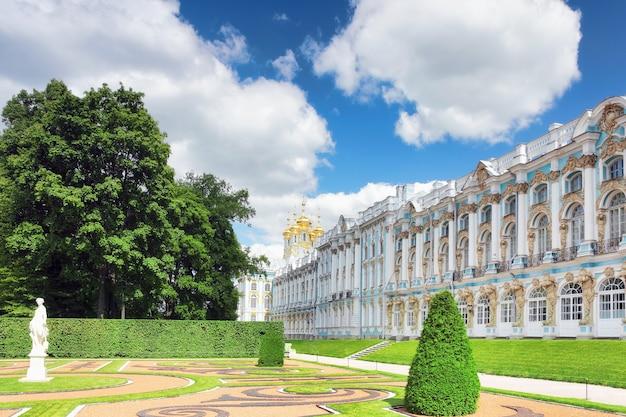 Sala Pałacu Katarzyny W Carskim Siole (puszkin), Rosja Premium Zdjęcia
