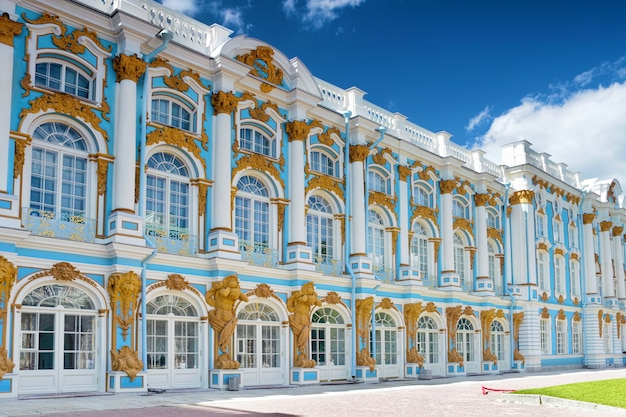 Sala pałacu katarzyny w carskim siole (puszkin), rosja