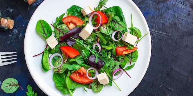 Sałatka grecka warzywa ser przekąska wegetariańska