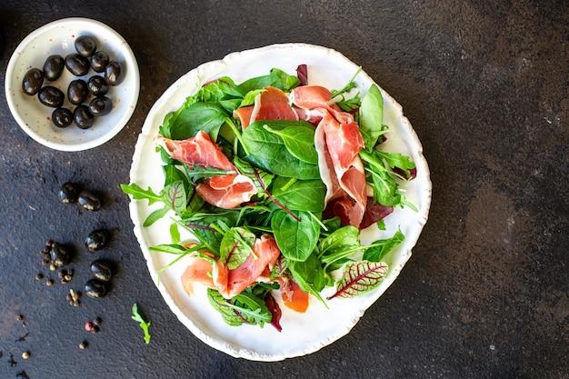 Sałatka szynka mięso wieprzowe szynka jamon włoska prosciutto serrano