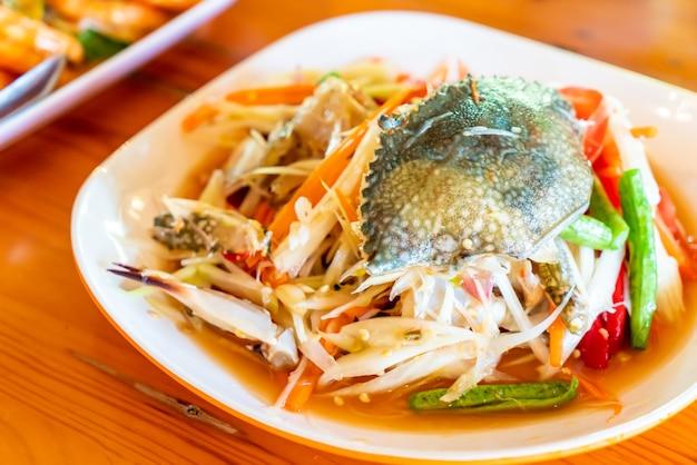 Sałatka z papai z blue crab