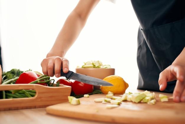 Sałatka z warzyw świeże jedzenie kuchnia zbliżenie