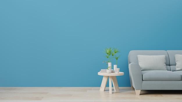 Salon i luksusowa ściana wewnętrzna dla trendu w klasycznym niebieskim kolorze 2020.
