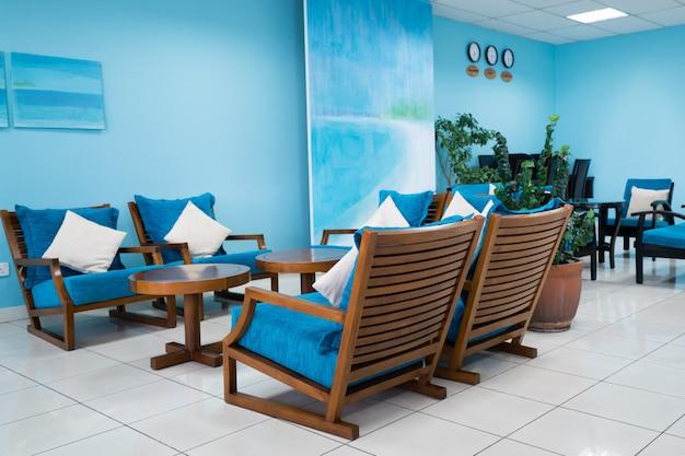 Salon w odcieniu niebieskiego