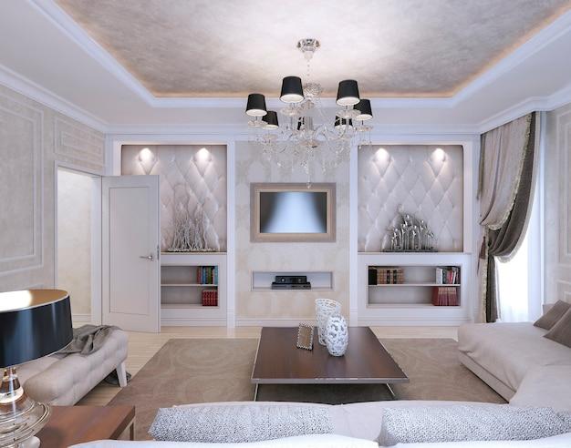 Salon w stylu neoklasycystycznym