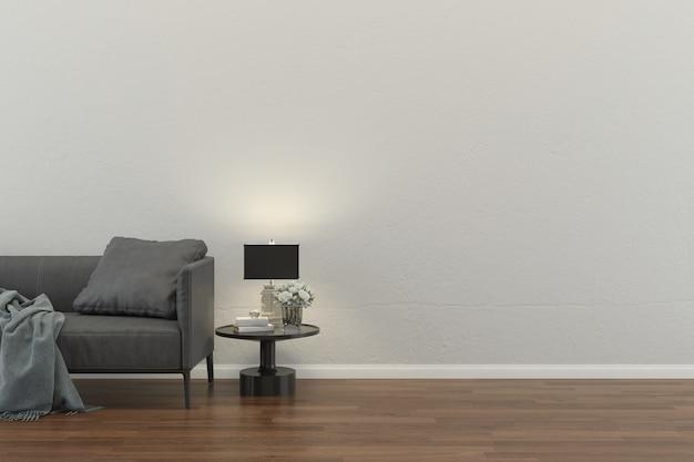 Salon wnętrze dom piętro projekt kopia przestrzeń